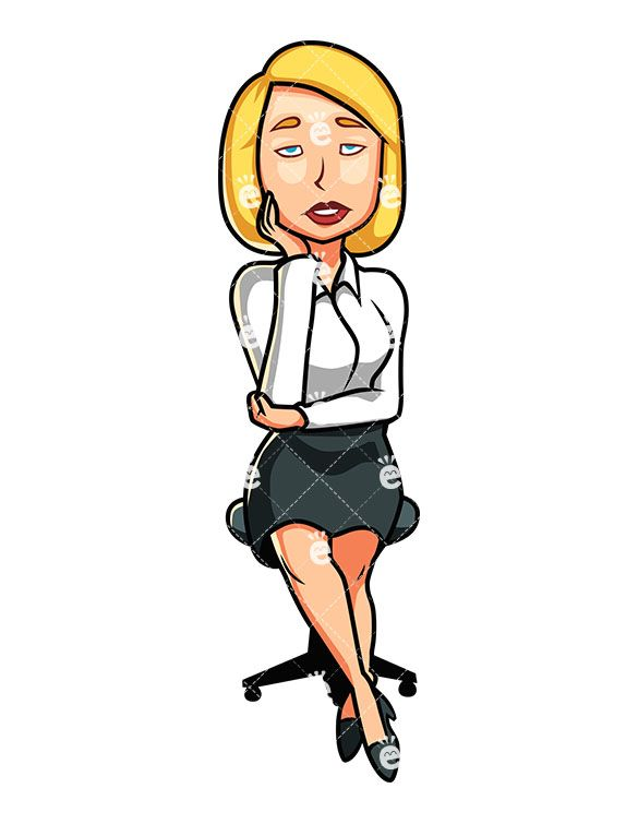 Clipart blonde business women picture library stock A Seated, Formally Dressed Woman Feeling Sleepy | Caucasian ... picture library stock