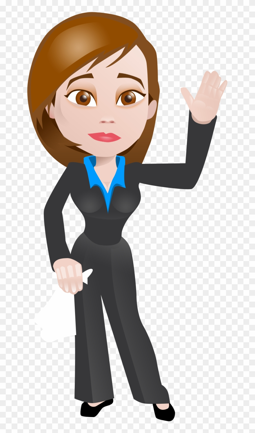 Business women clipart image black and white download Business Woman With Goodbye - Cartoons On Business Women Clipart ... image black and white download