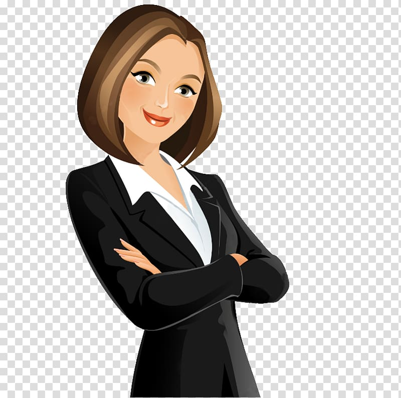 Woman clipart transparent managment graphic free download Woman wearing executive attire illustration, Cartoon , business ... graphic free download