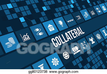 Businesscollateral clipart svg black and white library Drawing - Collateral concept image with business icons and copyspace ... svg black and white library