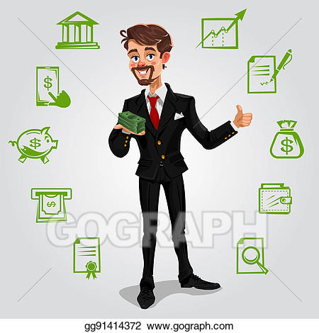Businessen clipart jpg freeuse Stock Illustration - Illustration money businessman. Clipart ... jpg freeuse