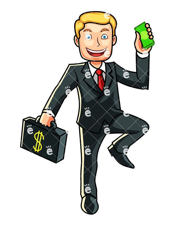 Businessen clipart jpg library stock A Businessman Holding A Wad Of Cash | Caucasian Businessman Clipart ... jpg library stock