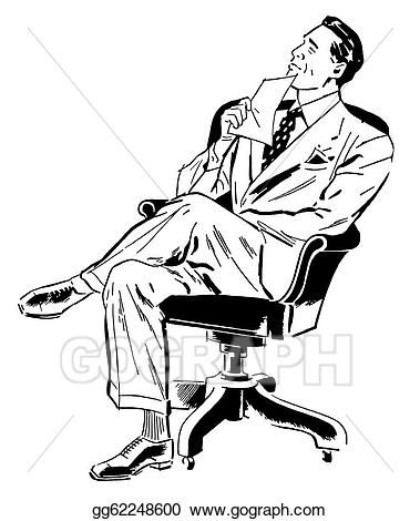 Businessman clipart black and white svg black and white stock Clipart - A black and white version of a graphic illustration of a ... svg black and white stock