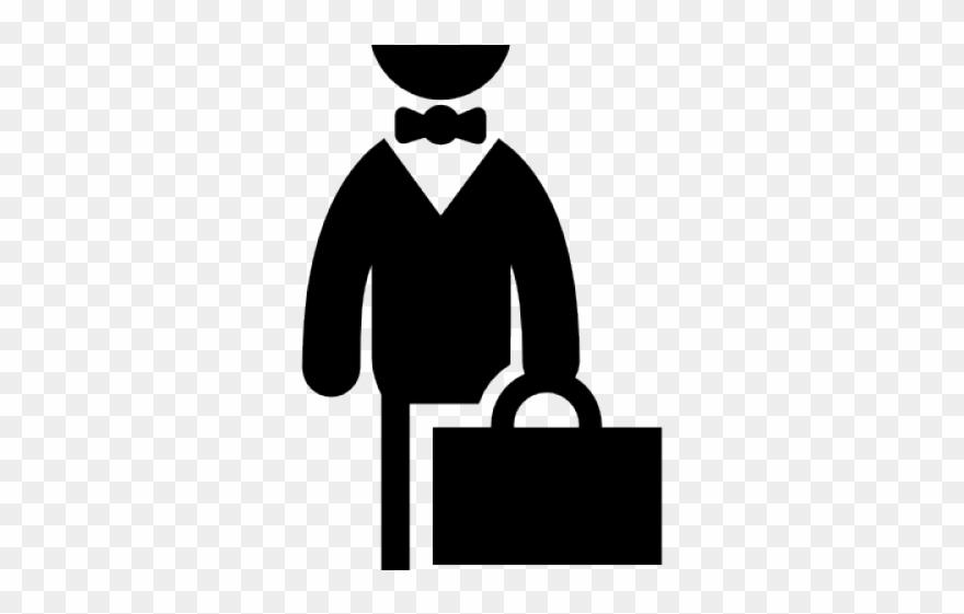 Businessman clipart black and white vector transparent download Businessman Clipart Suitcase - Internship Black And White - Png ... vector transparent download