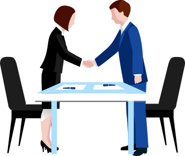 Businessmeeting with clients clipart picture black and white About Integra - Integra International picture black and white