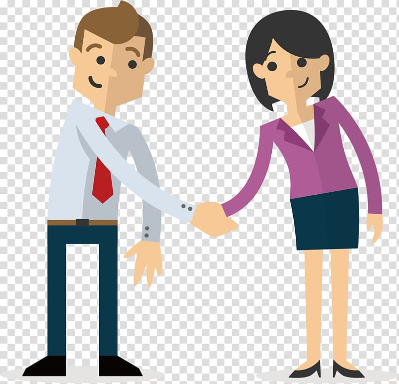 Businessmeeting with clients clipart clip transparent Couple shaking hands , Business Illustration, Meeting clients ... clip transparent