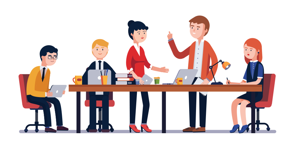 Businessmeeting with clients clipart vector royalty free 6 Creative Ways To Shake Up The Sales Team Meeting Agenda ... vector royalty free