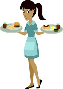 Cartoon waitress clipart picture royalty free library Busser Cliparts - Cliparts Zone picture royalty free library