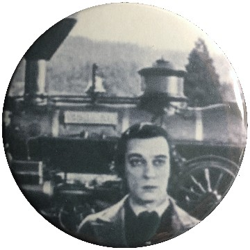Buster keaton clipart clip art free stock A Boy and His Train Button - $2.50 : Buster Stuff, Buster Keaton ... clip art free stock