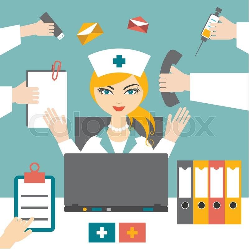 Busy nurse clipart vector royalty free Download busy busy nurse clipart Nursing Clip art vector royalty free