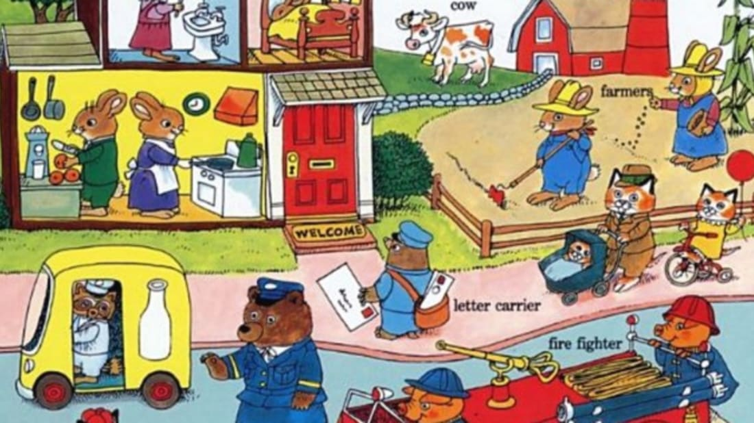 Busy world of richard scarry clipart clipart freeuse 12 Busy Facts About Richard Scarry | Mental Floss clipart freeuse