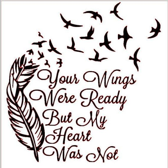 But clipart graphic free stock Your wings were ready but my heart was not clipart | Cricut ... graphic free stock