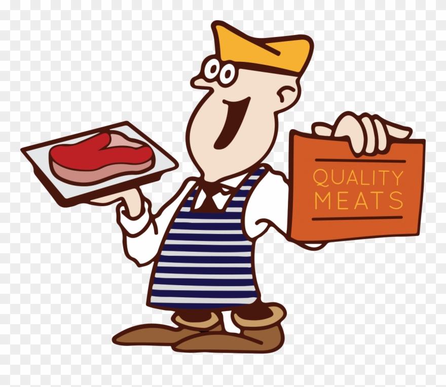 Butcher shop clipart graphic transparent download Vector Freeuse Library Butchers Shop Clipart - Butcher Cartoon Png ... graphic transparent download