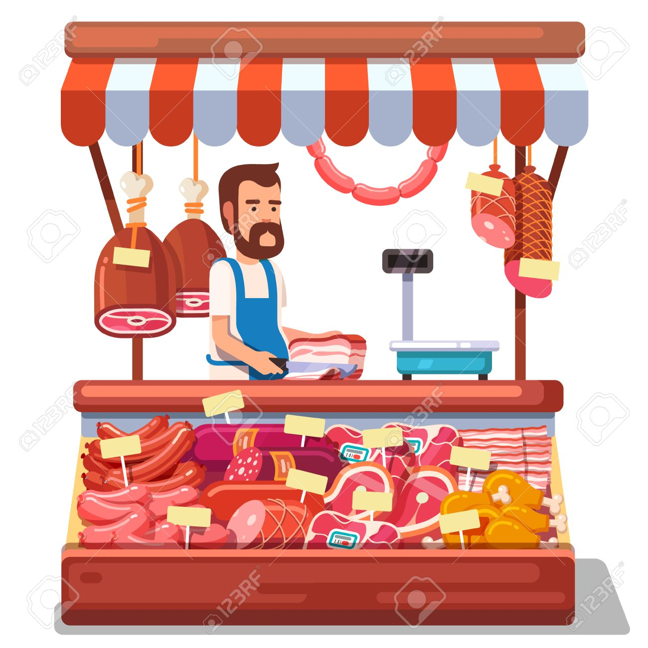 Butchery clipart graphic black and white library Meat In The Market Clipart graphic black and white library