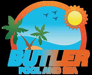 Butler builder logo clipart banner library stock Butler Pool and Spa banner library stock