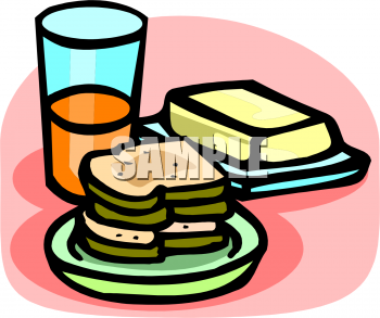 Butter sticking out of a pie clipart banner royalty free Slices Of Bread With A Stick Of Butter Clipart Image - foodclipart.com banner royalty free