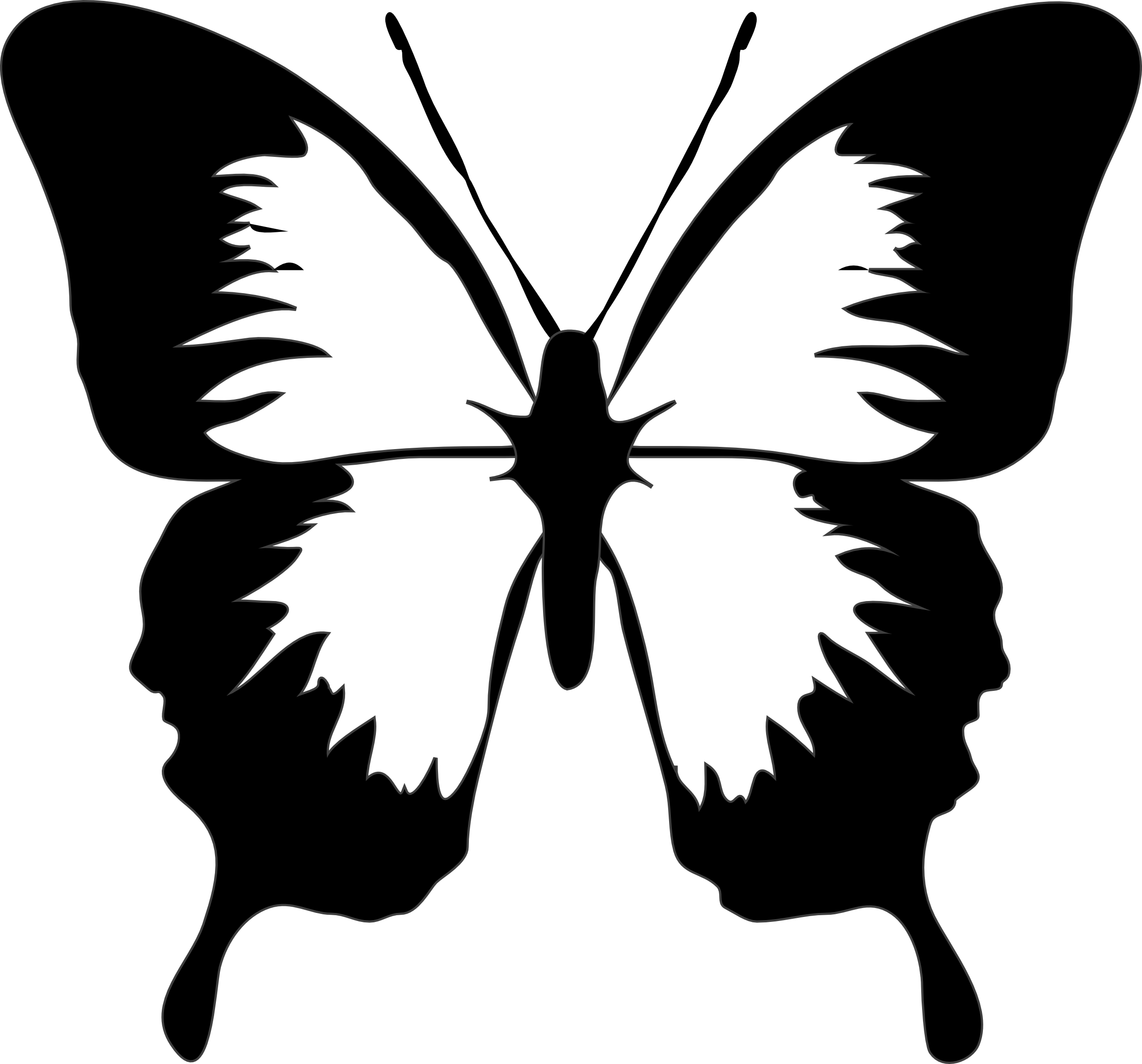 Butterfly clipart free black and white picture royalty free library Free Butterfly Images Black And White, Download Free Clip Art, Free ... picture royalty free library