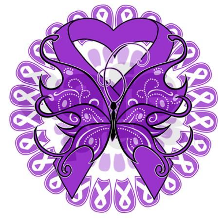 Butterflies clipart with purple ribbons png royalty free Purple Butterfly Ribbon Necklace By Awarenessjewelry Clipart - Free ... png royalty free