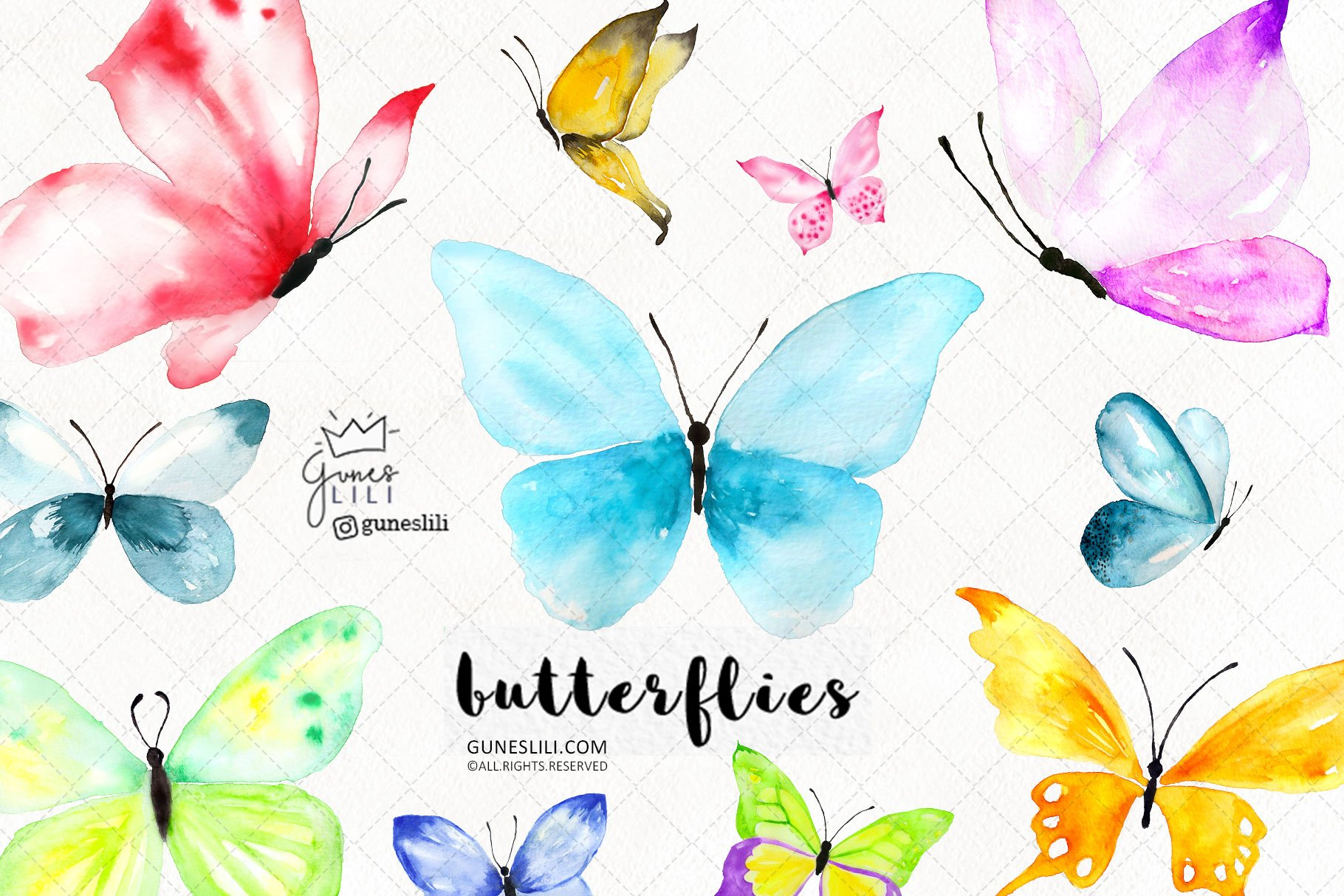Butterflies cliparts banner freeuse download Watercolor Butterfly Cliparts banner freeuse download