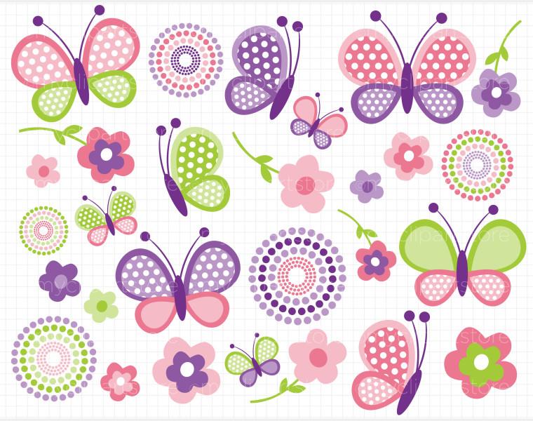 Butterflies day clipart clip stock Butterfly clip art pink butterflies mothers day clipart image #1592 clip stock