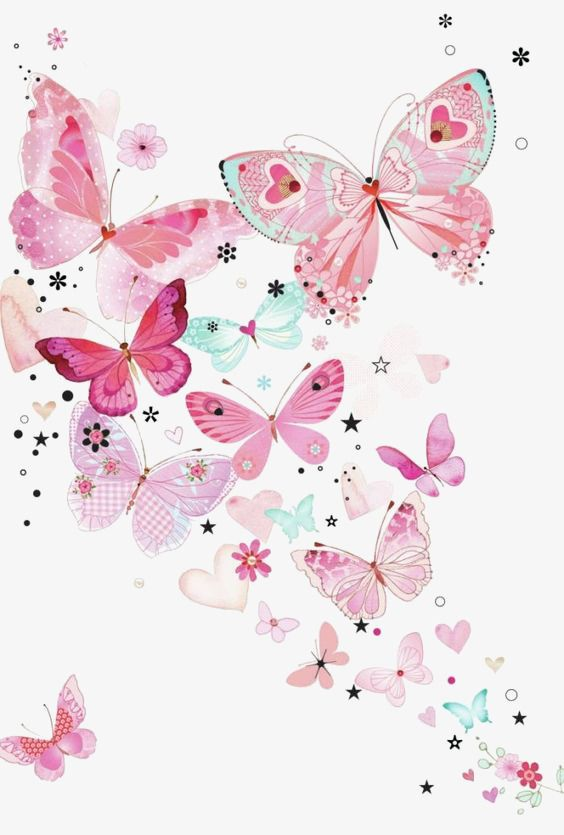 Butterflies day clipart picture library Pink Butterfly Background, Butterfly Clipart, Butterfly, Pink PNG ... picture library