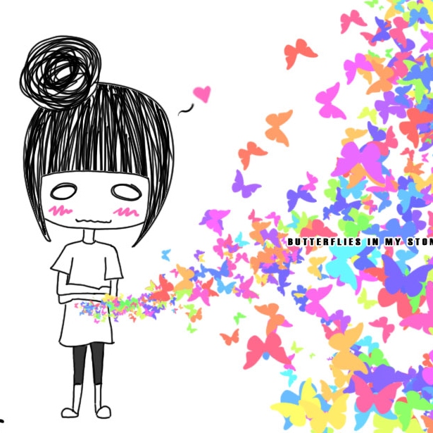 Butterflies in my stomach clipart banner black and white 8tracks radio   you give my stomach butterflies (8 songs)   free and ... banner black and white
