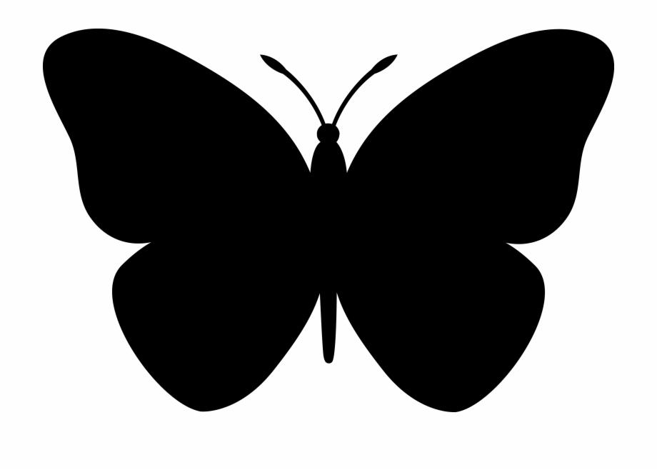 Butterflies silhouette clipart free