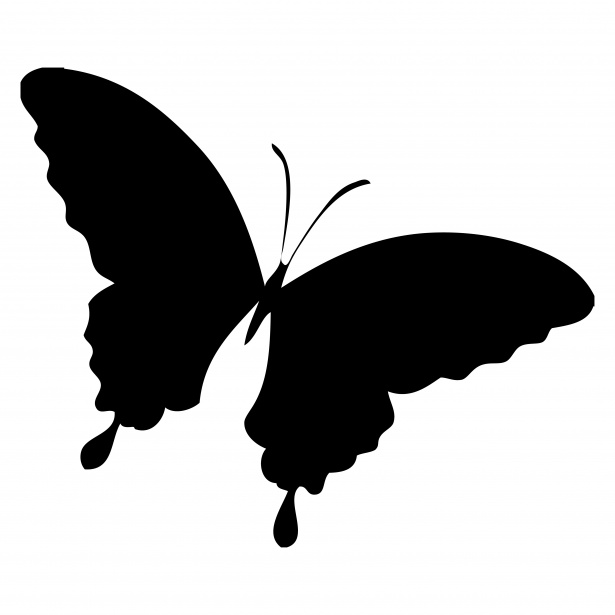 Butterflies silhouette clipart free graphic transparent stock Butterfly Silhouette Clipart Free Stock Photo - Public Domain Pictures graphic transparent stock