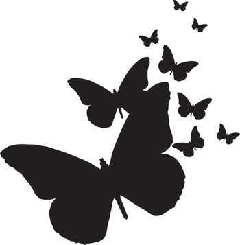 Butterflies silhouette clipart free clip free Free Butterfly Silhouette, Download Free Clip Art, Free Clip Art on ... clip free