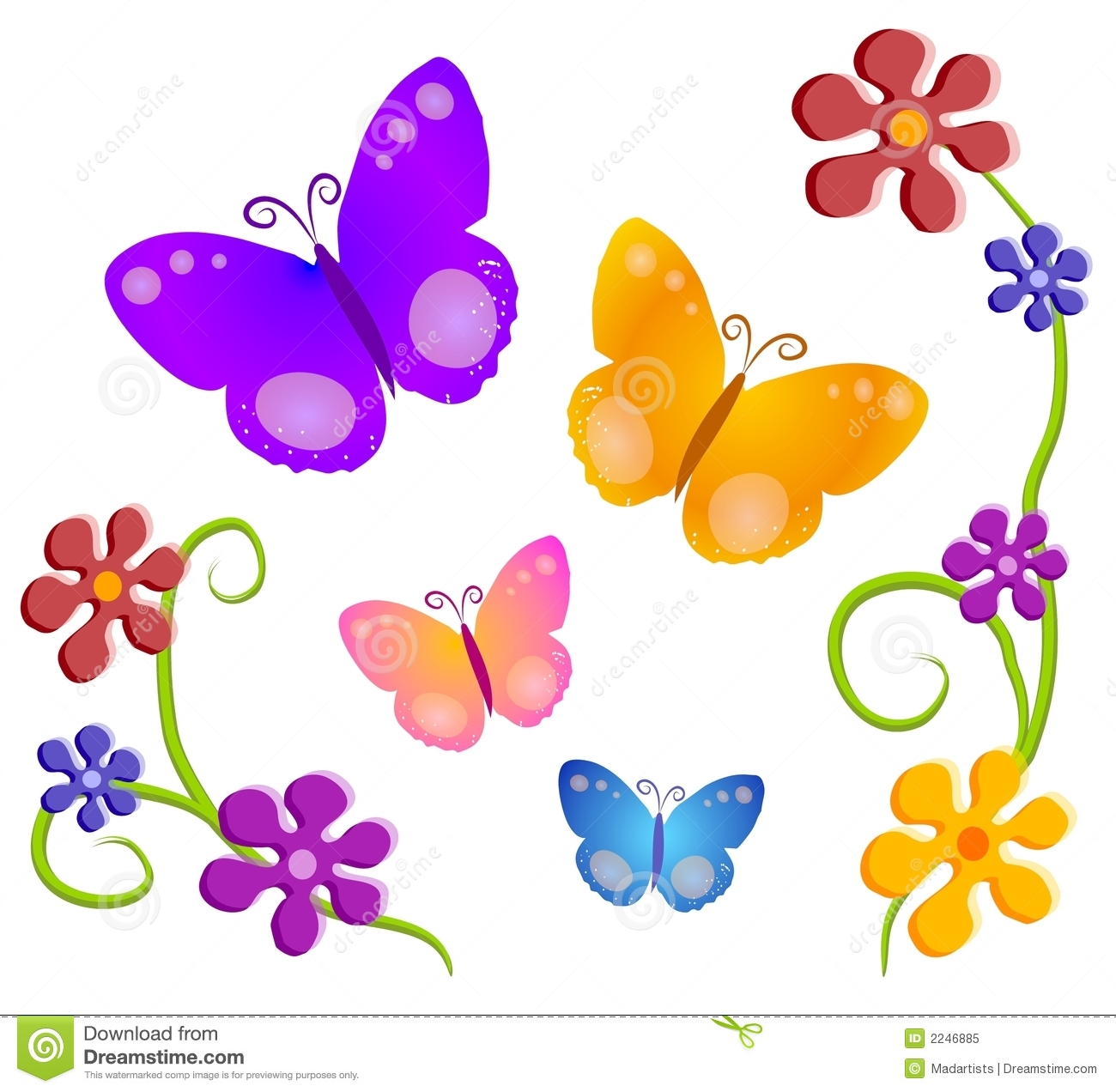 Butterfly and flowers clipart graphic library Free butterfly and flower clipart - ClipartFest graphic library