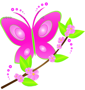 Butterfly and flowers clipart clipart black and white download Cute butterfly and flower clipart png - ClipartFest clipart black and white download