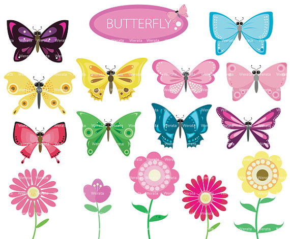 Butterfly and flowers clipart svg royalty free library Butterfly and flowers clipart - ClipartFest svg royalty free library