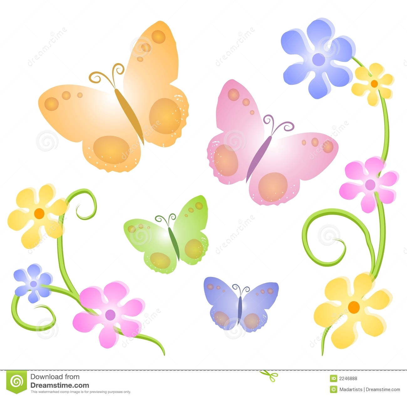 Butterfly and flowers clipart svg freeuse library Free butterfly and flower clipart - ClipartFest svg freeuse library