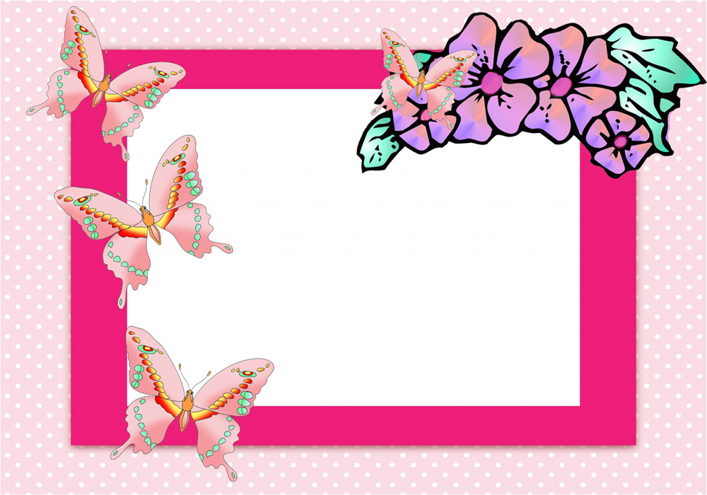Butterfly clipart design card vector free download Butterfly Border Clipart vector free download