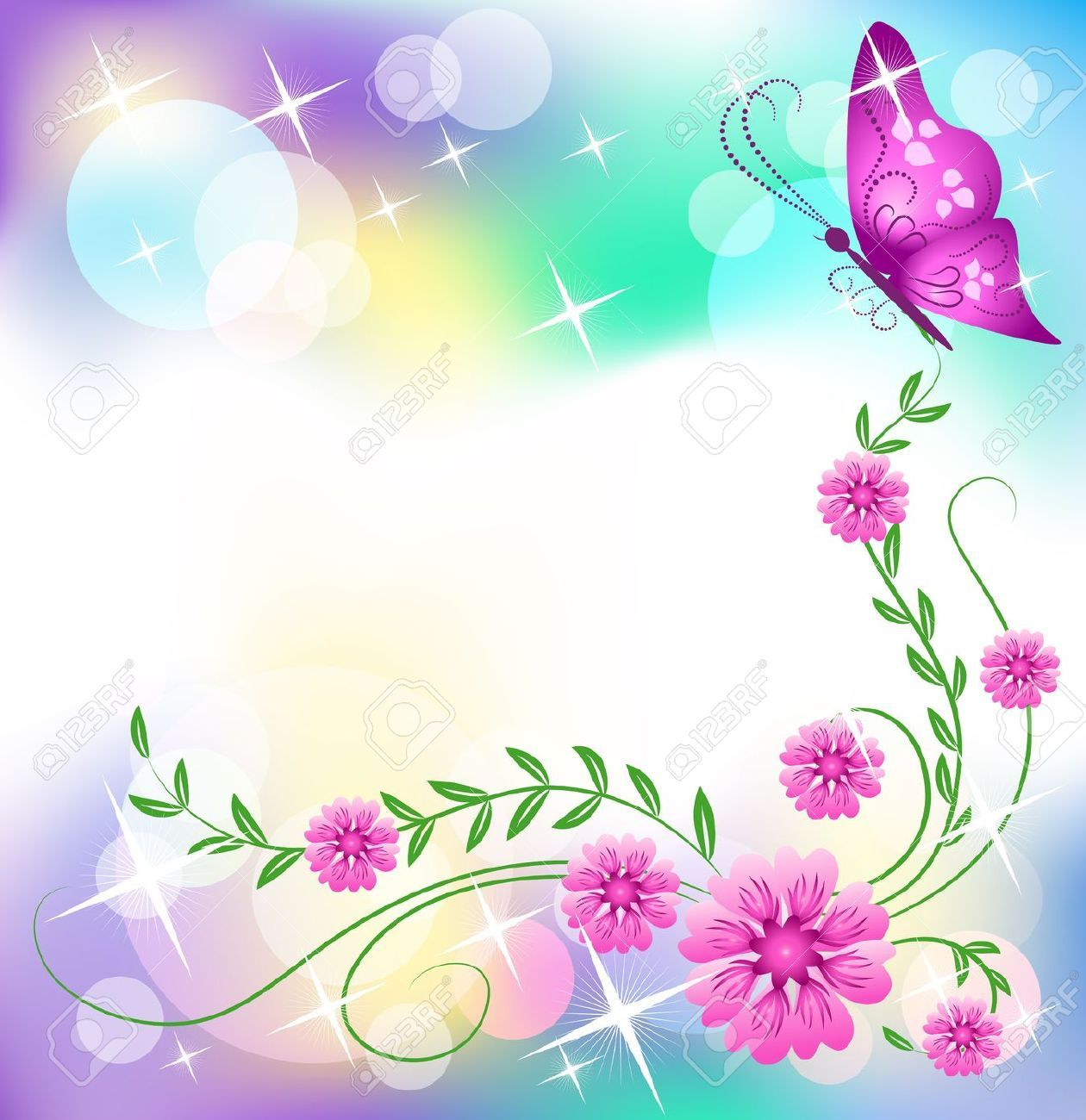 Butterfly borders clipart png transparent library butterfly border clip art - Google Търсене | rainbows | Butterfly ... png transparent library