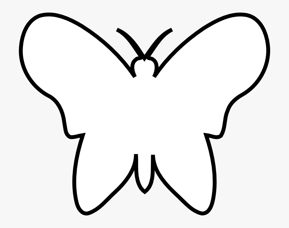 Black outline clipart of butterfly clip freeuse library Butterfly Outline Png - Butterfly Black And White Outline #101901 ... clip freeuse library
