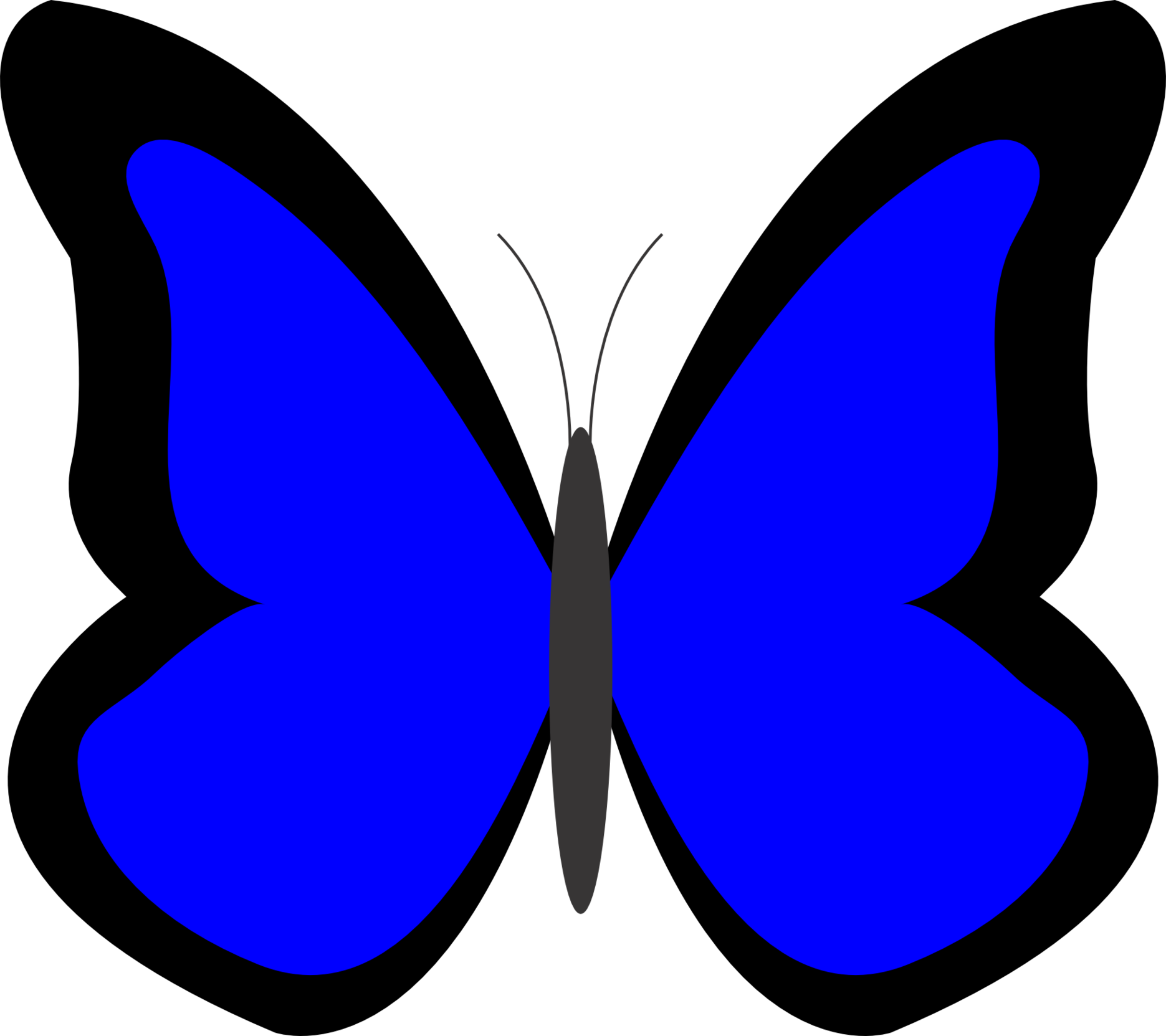 Butterfly clipart clipart clip library library Blue Butterfly Clipart & Blue Butterfly Clip Art Images ... clip library library