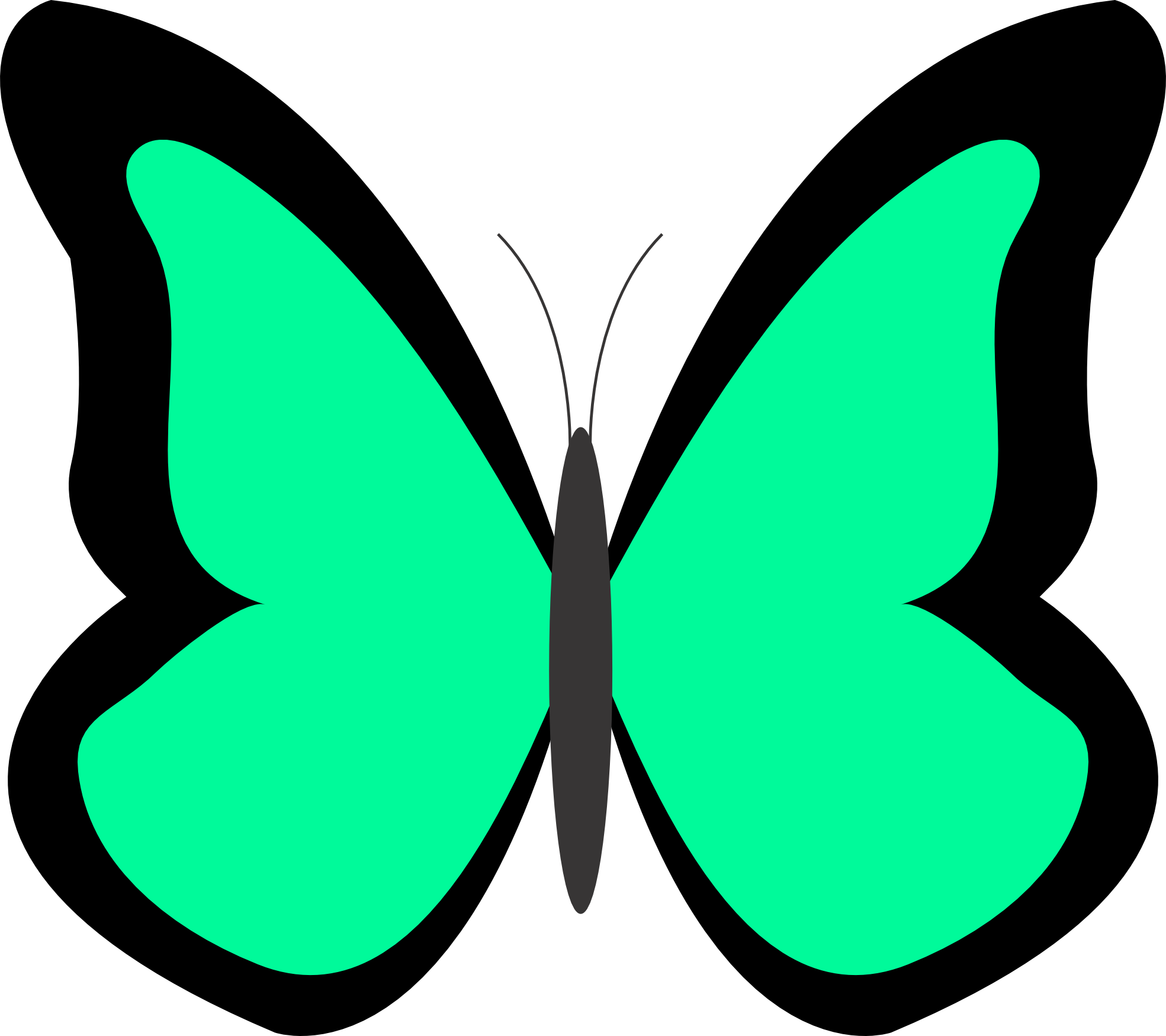 Lime green flower clipart banner royalty free Butterflies butterfly clip art butterfly clipart - Clipartix banner royalty free