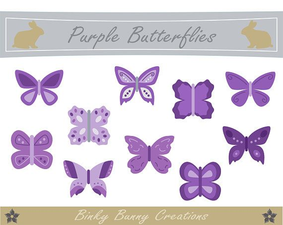 Butterfly clipart design card clipart transparent library Cute Purple Butterfly Clip Art, Clipart, Images, Graphics, Design ... clipart transparent library