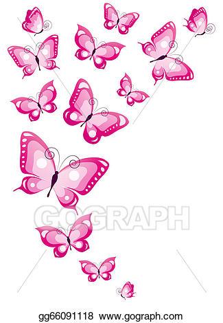 Butterfly clipart design card image transparent stock Stock Illustration - Butterflies design. Clipart gg66091118 - GoGraph image transparent stock