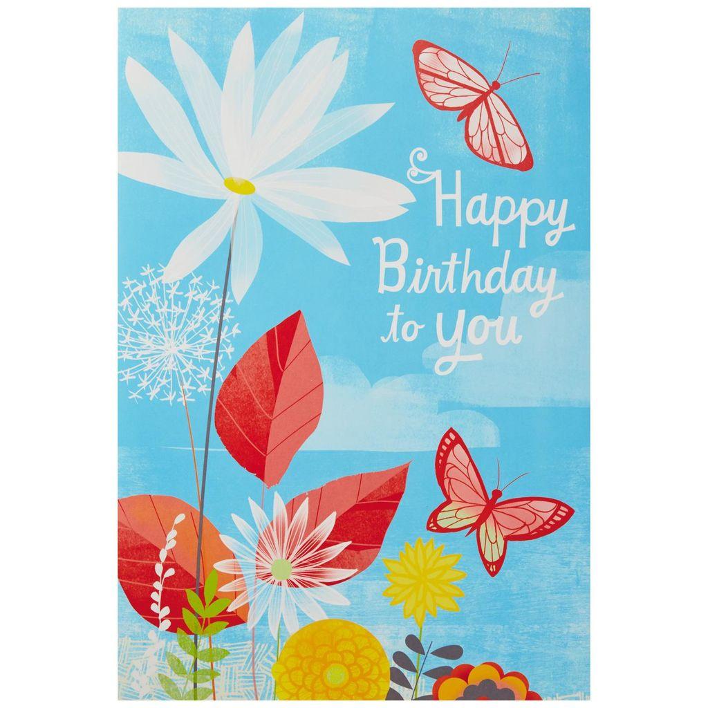 Butterfly clipart design card royalty free download Joyful Butterflies Pop Up Jumbo Birthday Card, 16\