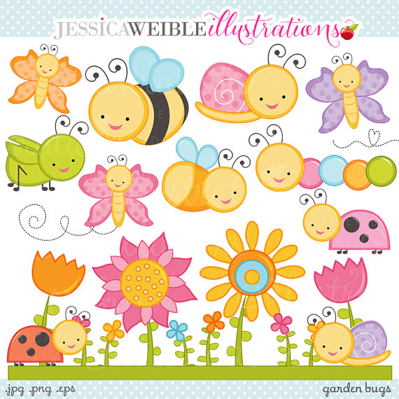 Butterfly clipart for commercial use clip transparent download Garden Bugs Cute Digital Clipart - Commercial Use OK - Cute Bugs ... clip transparent download