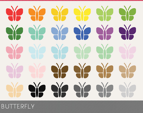 Butterfly clipart for commercial use banner black and white stock Butterfly Clipart, Butterfly Digital Clip art, Butterfly Digital ... banner black and white stock
