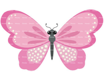 Butterfly clipart for commercial use jpg library library Items similar to pink butterflies clip art digital clipart ... jpg library library