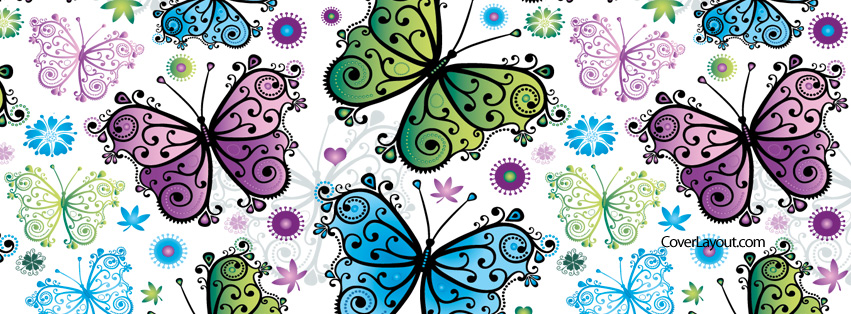 Butterfly clipart for facebook cover image royalty free stock 66 best ideas about Butterflies and Ladybugs Facebook Covers on ... image royalty free stock