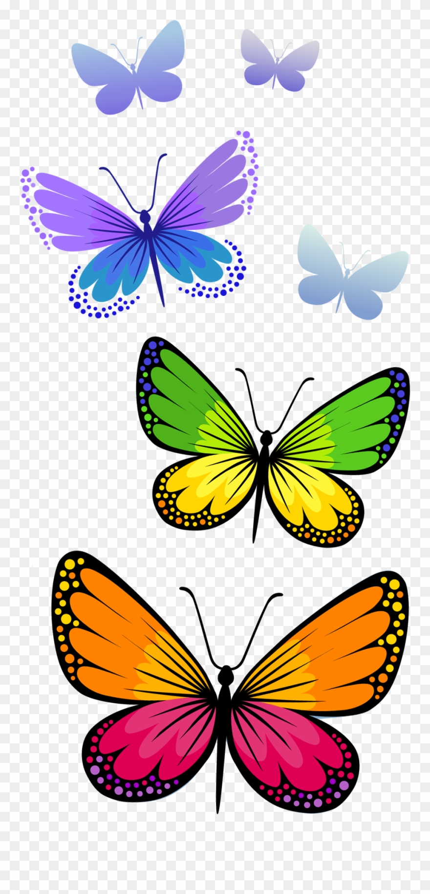 Butterfly clipart free use png free Half Butterfly Cliparts Free Download Clip Art - Png Format ... png free