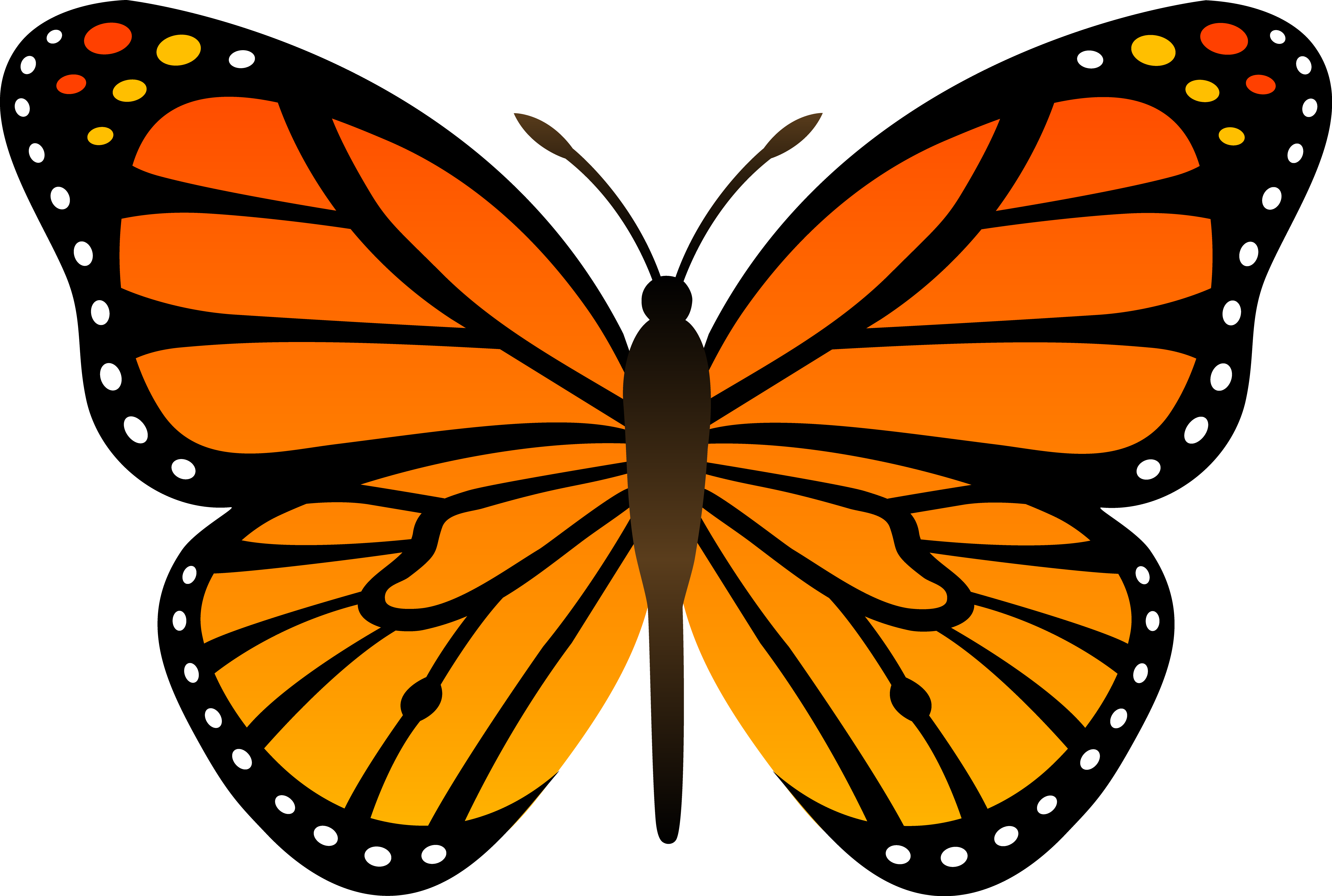 Butterfly clipart free use clip royalty free Monarch Butterfly Clipart & Look At Clip Art Images - ClipartLook clip royalty free