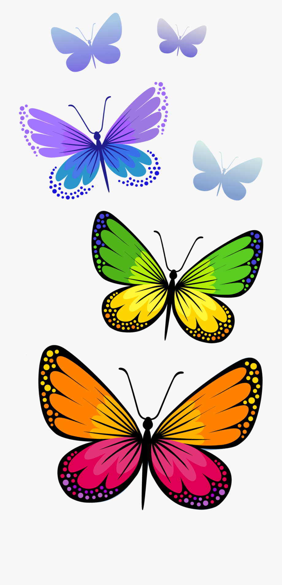 Free butterfly pictures clipart svg royalty free download Half Butterfly Cliparts Free Download Clip Art - Butterfly Clipart ... svg royalty free download