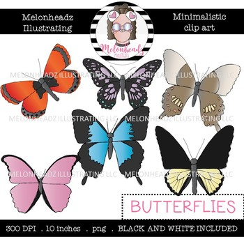 Butterfly clipart melonheadz royalty free download Butterfly clip art - Minimal Style - Mini - Melonheadz Clipart royalty free download