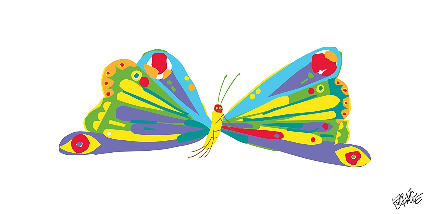 Butterfly eric carle clipart graphic library library Amazon.com: Marmont Hill Eric Carle\'s The Very Hungry Caterpillar ... graphic library library